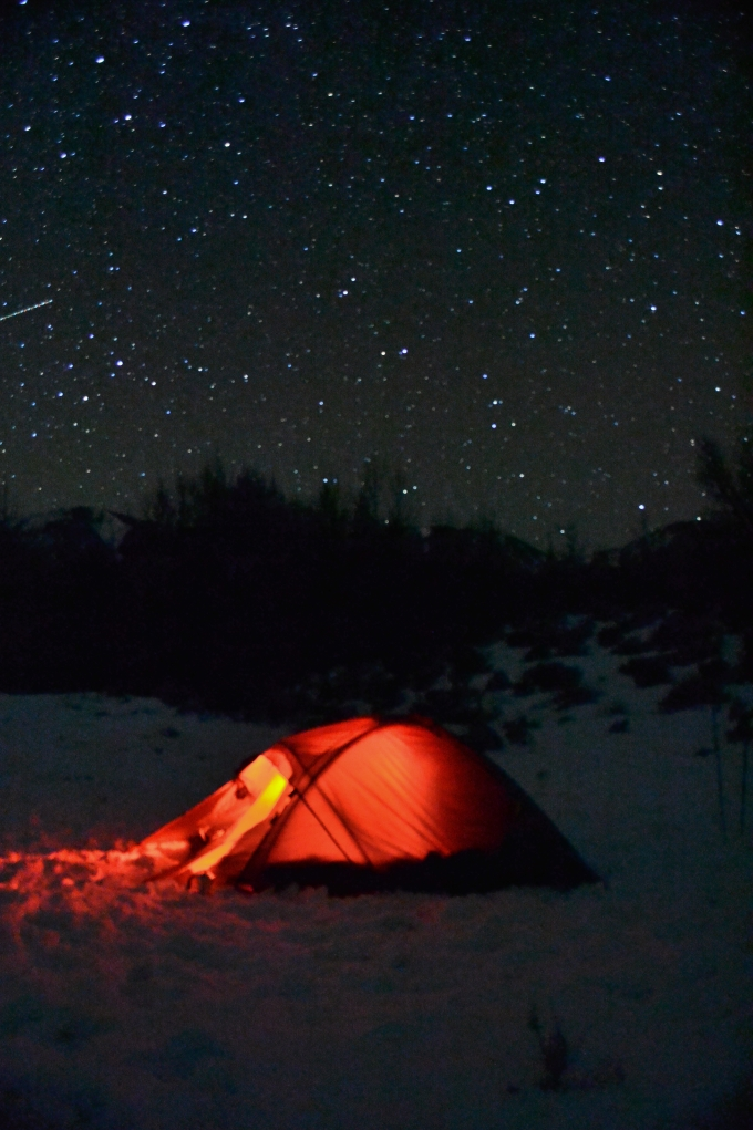 Our tent under the stars. (Photograph by Manuel Castro)