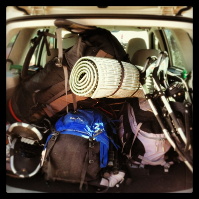 Our gear packed up before heading to Elbert. (Photo by Ivan Flores)