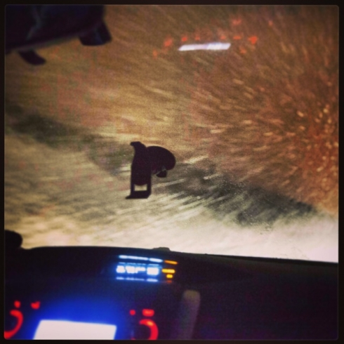 The snowstorm we hit between Leadville and Avon after leaving Elbert. (Photo by Ivan Flores)