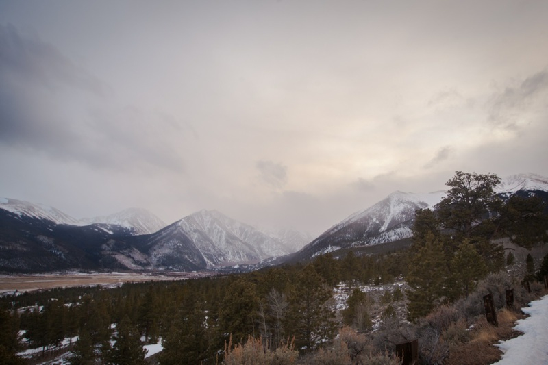 The wall of snow just above twin lakes as we were leaving. (Photo by Ivan Flores)