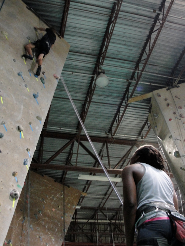 Climbing promotes cross gender and cross national partnerships.