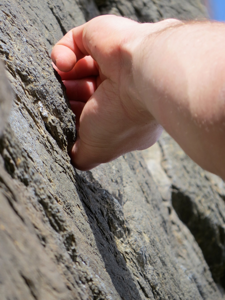 The beauty of climbing is being able to latch on to small holds. It celebrates precision over power.