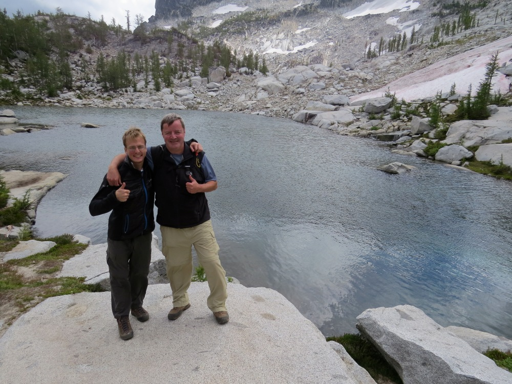 Hiking the Enchantments with Lee, a good friend who I met through the #HikerChat forum