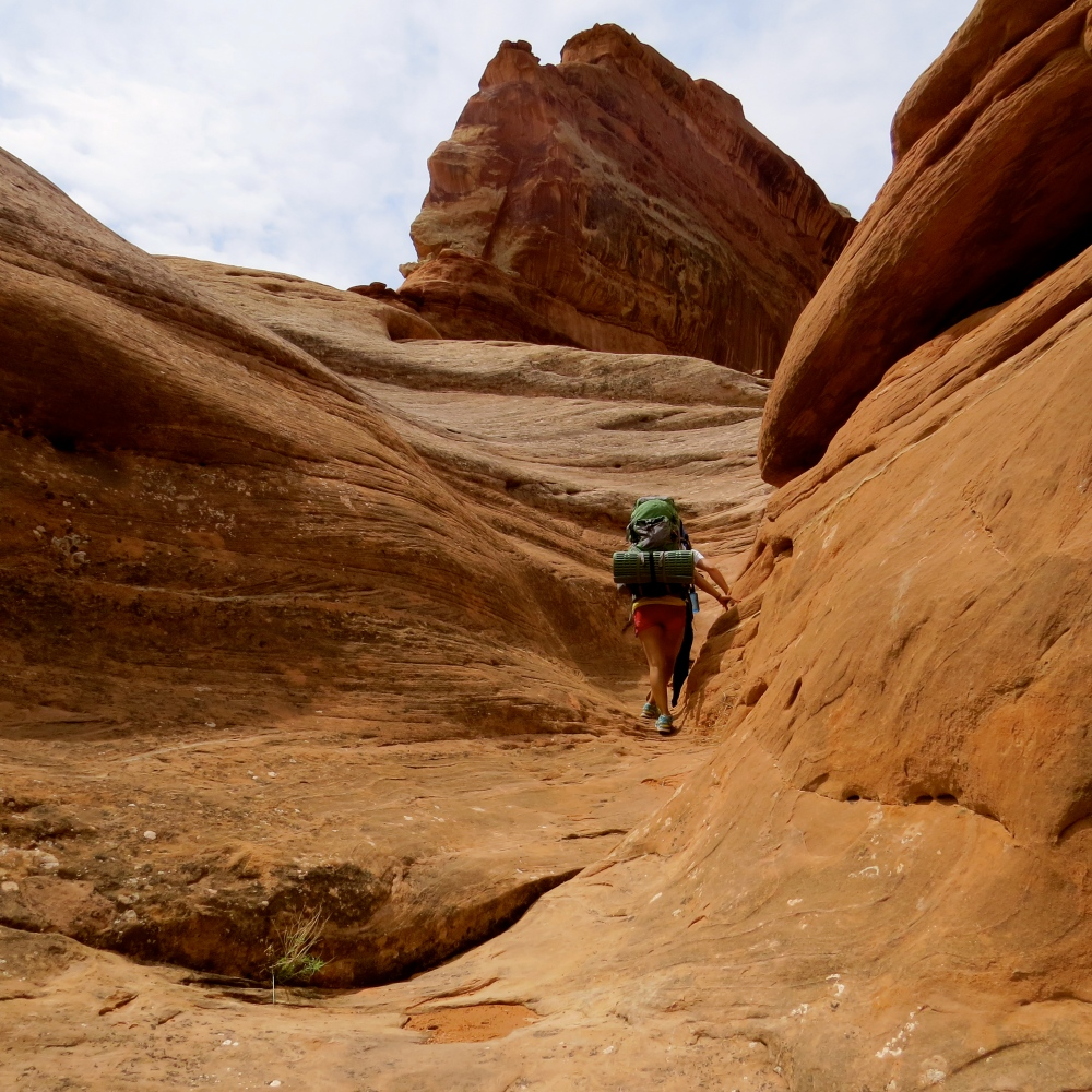 Hiking near Elephant Canyon