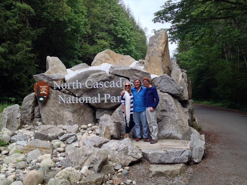 My parents and I at North Cascades National Park