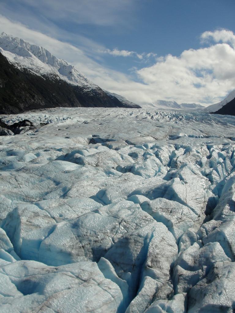 Crevasses on a glacier in Alaska