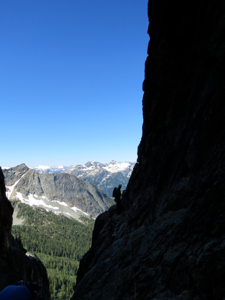 Looking towards the Beckey Couloir in Washington Pass