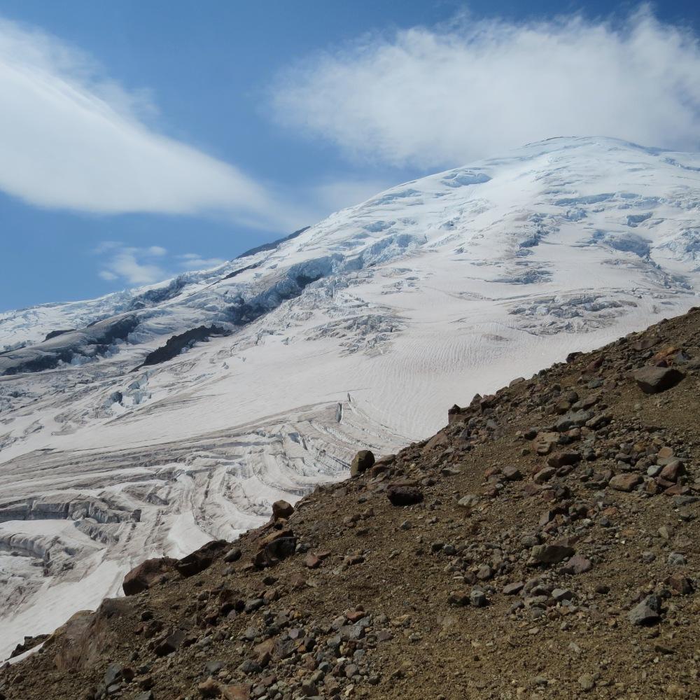 Rainier's Summit Ridge from the Emmons Glacier